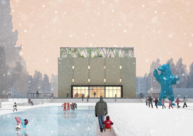 Проект редевелопмента кинотеатра «Восход» © Консорциум: НОВОЕ + Практика + ZOLOTO Group + Хора + Проектная группа 8