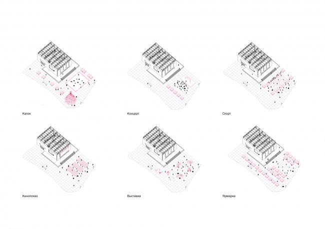 Проект редевелопмента кинотеатра «Восход». Консорциум: НОВОЕ + Практика + ZOLOTO Group + Хора + Проектная группа 8