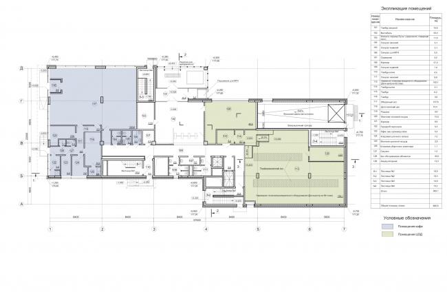 Деловой центр «Новая столица». План 1 этажа © Мезонпроект