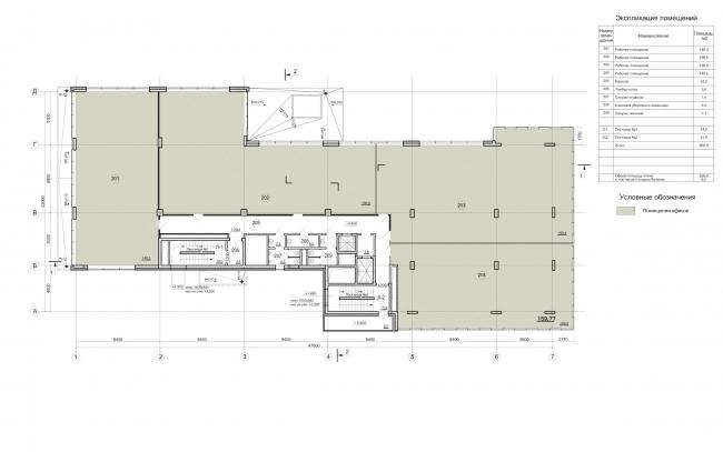 Деловой центр «Новая столица». План 2 этажа © Мезонпроект