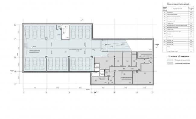 Деловой центр «Новая столица». План подземной парковки © Мезонпроект