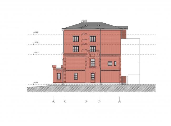 Офисное здание на ул. 2-ая Боевская. Фасад © Архитектурная мастерская Лызлова