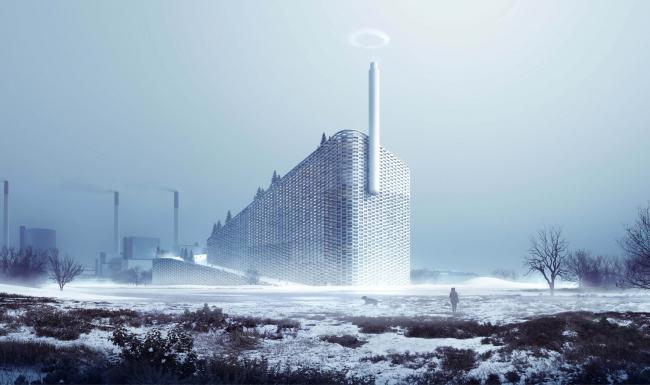 Мусороперерабатывающий завод Amager. Окончательный вариант проекта © BIG