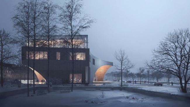 Библиотека Университета Темпл © Snøhetta