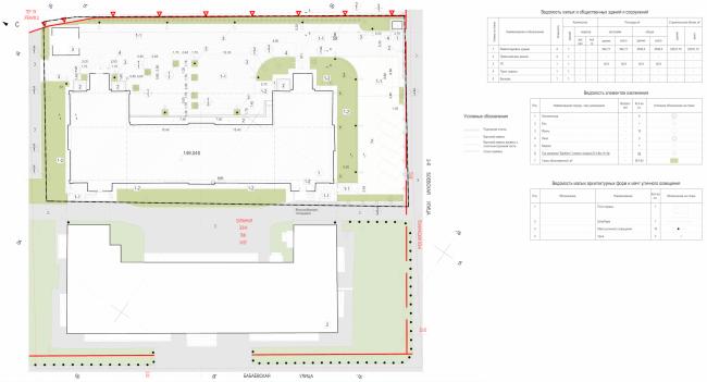 Офисное здание на ул. 2-ая Боевская. Генеральный план © Архитектурная мастерская Лызлова