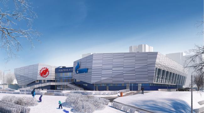"""""""Avant-Garde"""" Hockey Academy © Sergey Tsytsin Architects"""