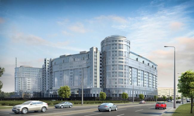 """Platinum"" residential complex © Sergey Tsytsin Architects"