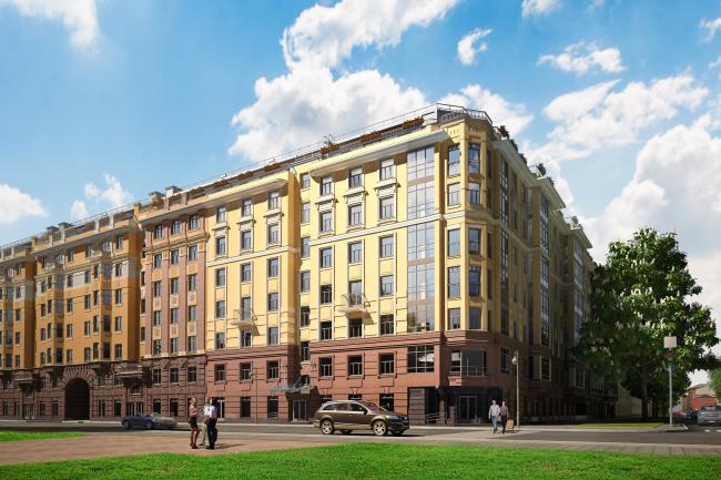 """Fjord"" residential complex © Sergey Tsytsin Architects"