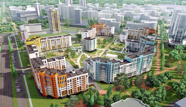 Жилой квартал в Екатеринбурге © Архитектурная мастерская Цыцина