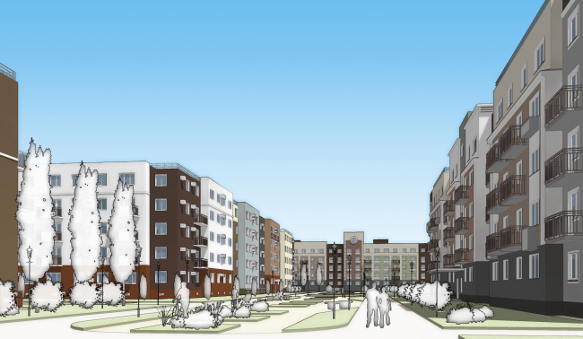 """Project of """"Yuntolovo"""" residential area © Sergey Tsytsin Architects"""