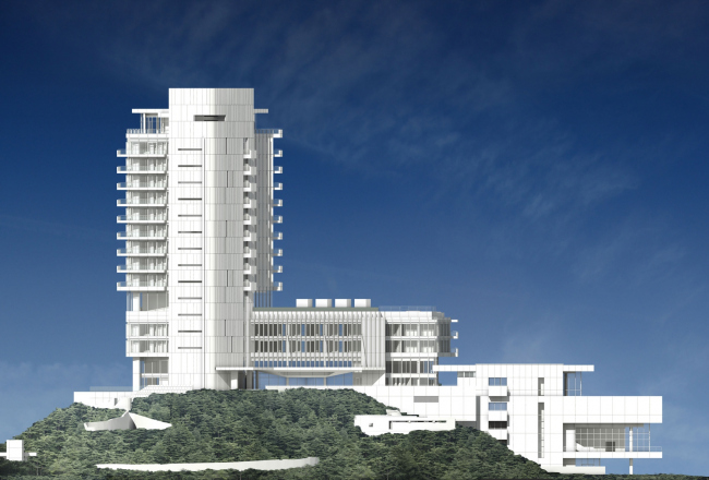 Гостиница Seamarq Hotel © Richard Meier & Partners Architects