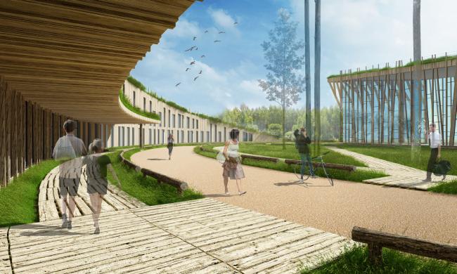 Спортивно-досуговый центр на Можайском море © Архитектуриум