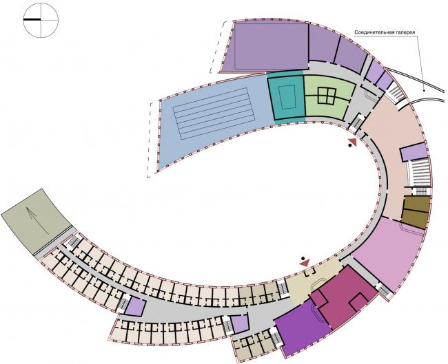 Спортивно-досуговый центр на Можайском море. План © Архитектуриум