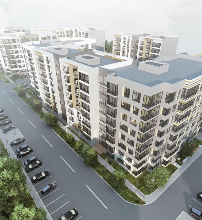 Варианты фасадных решений для квартала в г. Видное. Вариант 4. Проект, 2015 © PANACOM