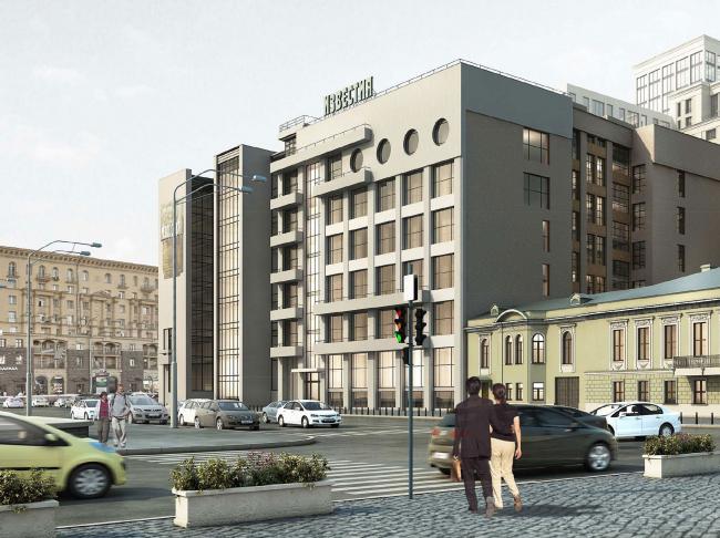 """Restoration of the building of """"Izvestiya"""" Newspaper. Restoration, 2014-2015 © Ginsburg Architects"""