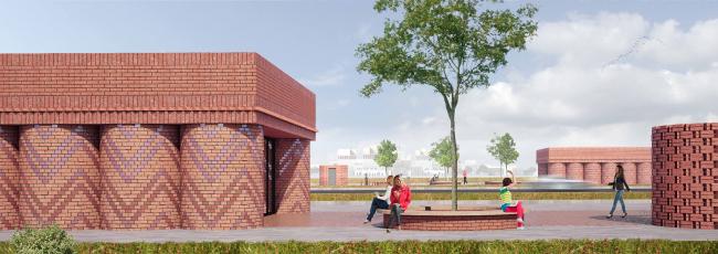 Дизайн станции «Нижние Мневники» © Архитектурное бюро «Хвоя»