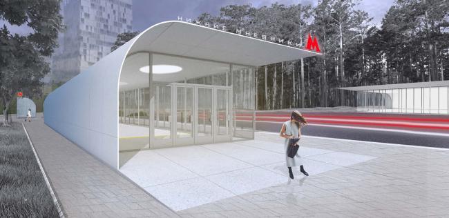 Дизайн станции «Нижние Мневники» © Архитектурное бюро «Практика». Предоставлено КБ «Стрелка»