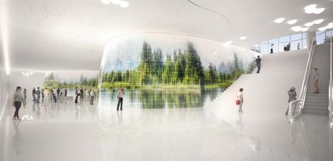 Дизайн станции «Нижние Мневники» © Трайан Бомпа (Франция). Предоставлено КБ «Стрелка»