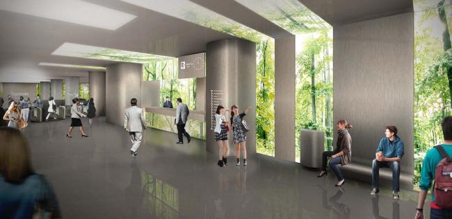 Дизайн станции «Терехово» © Архитектурное бюро Gerber Architekten International (Германия). Предоставлено КБ «Стрелка»