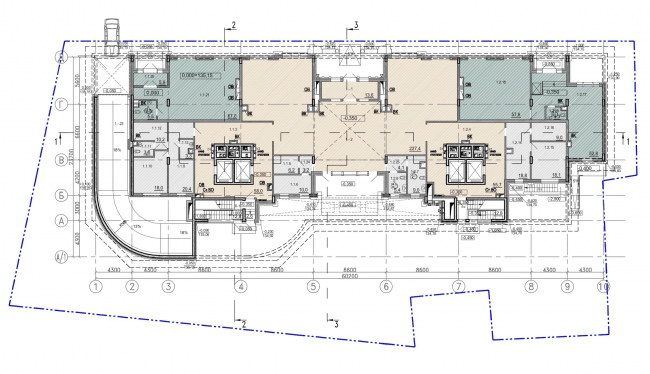 """Residence in Vsevolozhsky"". Plan of the ground floor © Mezonproject"