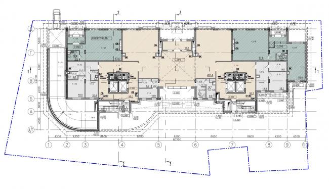 Клубный дом «Резиденция на Всеволожском». План 1 этажа © Мезонпроект