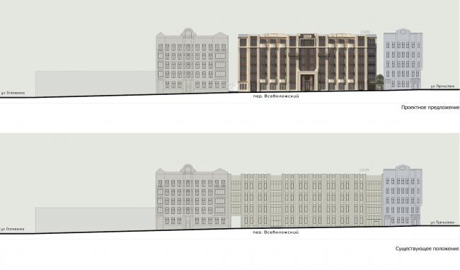 """Residence in Vsevolozhsky"". Development drawings © Mezonproject"