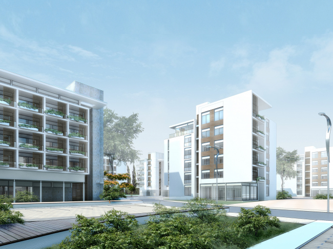 Комплекс зданий «Малый Ахун». Проект, 2012 © Гинзбург Архитектс