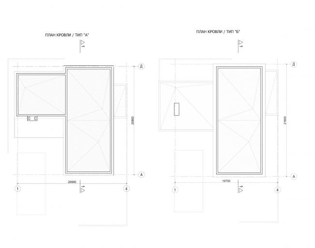 Комплекс зданий «Малый Ахун». Гостиничный комплекс (зона «А»). Планы кровли. Проект, 2012 © Гинзбург Архитектс