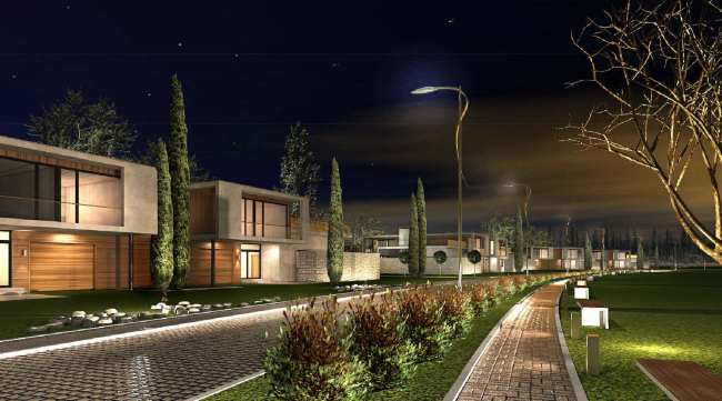 Комплекс зданий «Малый Ахун». Гостиничный комплекс (зона «А»). Проект, 2012 © Гинзбург Архитектс
