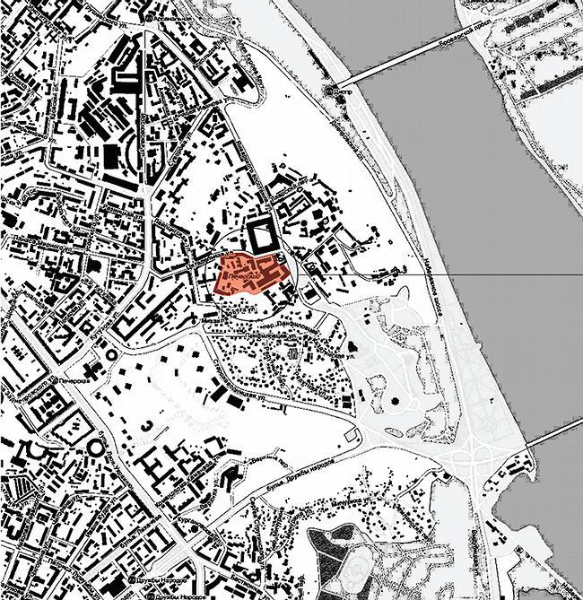местоположение объекта в городе