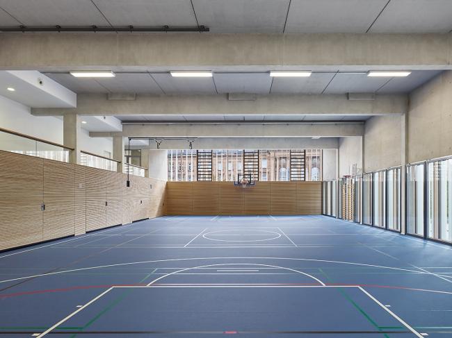 Спортивный зал гимназий им. Кеплера и им. Гумбольдта © Zooey Braun  www.zooey-braun.de