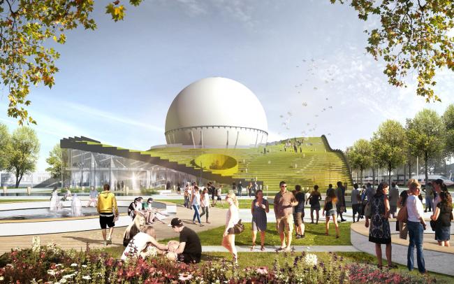 Учебно-исследовательский центр «Газгольдер». Проект, 2011-2013 © db-arch studio