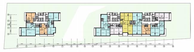 Жилой дом на Нахимовском проспекте. План типового этажа © Архитектурное бюро Асадова