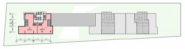 Жилой дом на Нахимовском проспекте. План пентхауса на 26 этаже © Архитектурное бюро Асадова
