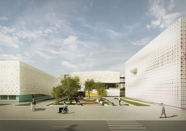 Областной физкультурно-оздоровительный комплекс для людей с ограниченными возможностями «Идентификация». Проект, 2014 © LABAR