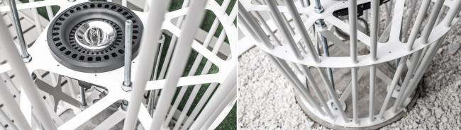 Инсталляция «Лес» для центра мини-гольфа и крокета. Детали инсталляции. Инсталляция, 2015 © AMD architects