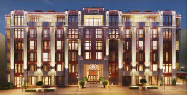 Клубный дом «Резиденция на Всеволожском». Главный фасад © Мезонпроект