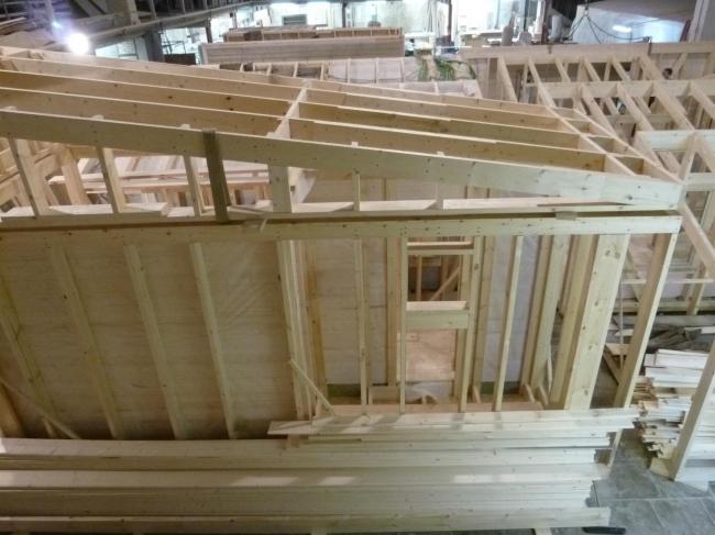 Серия домов «Дом-ковчег». Ковчег-3 (3 модуля). Процесс сборки. Постройка, 2015 © АрхПроект-3
