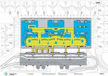 Аэропорт Хитроу - Терминал 5. Проект. План