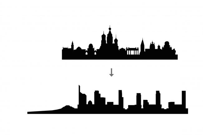 Комплексная общественно-жилая застройка на Васильевском острове. Поиск силуэта. Проект, 2015 © KCAP Architects & Partners + ORANGE Architects