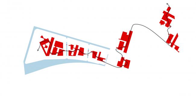 Комплексная общественно-жилая застройка на Васильевском острове. Схема. Проект, 2015 © KCAP Architects & Partners + ORANGE Architects