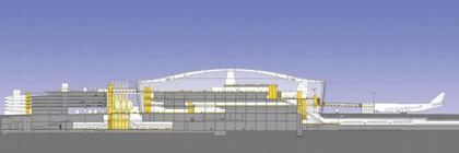 Аэропорт Хитроу - Терминал 5. Проект. Разрез