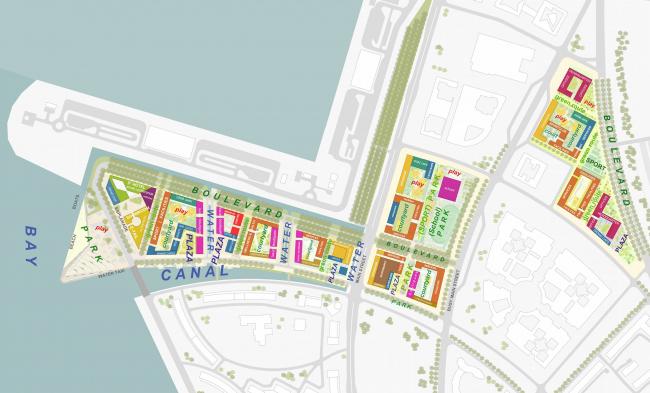 Комплексная общественно-жилая застройка на Васильевском острове. Стратегия для нежилой застройки. Проект, 2015 © KCAP Architects & Partners + ORANGE Architects