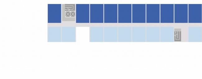 Комплексная общественно-жилая застройка на Васильевском острове. 2 типа квартир. Проект, 2015 © KCAP Architects & Partners + ORANGE Architects