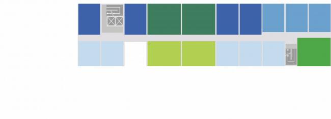 Комплексная общественно-жилая застройка на Васильевском острове. 6 типов квартир. Проект, 2015 © KCAP Architects & Partners + ORANGE Architects