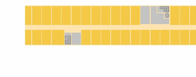 Комплексная общественно-жилая застройка на Васильевском острове. Традиционная планировка офиса. Проект, 2015 © KCAP Architects & Partners + ORANGE Architects