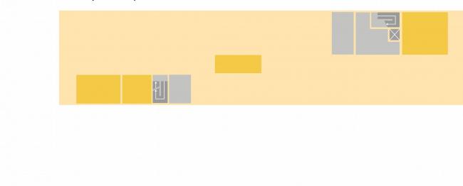 Комплексная общественно-жилая застройка на Васильевском острове. Свободная планирвока офиса. Проект, 2015 © KCAP Architects & Partners + ORANGE Architects