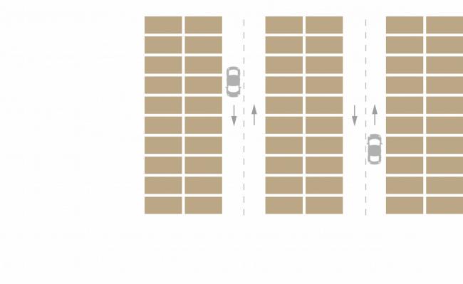 Комплексная общественно-жилая застройка на Васильевском острове. Паркинг. Проект, 2015 © KCAP Architects & Partners + ORANGE Architects