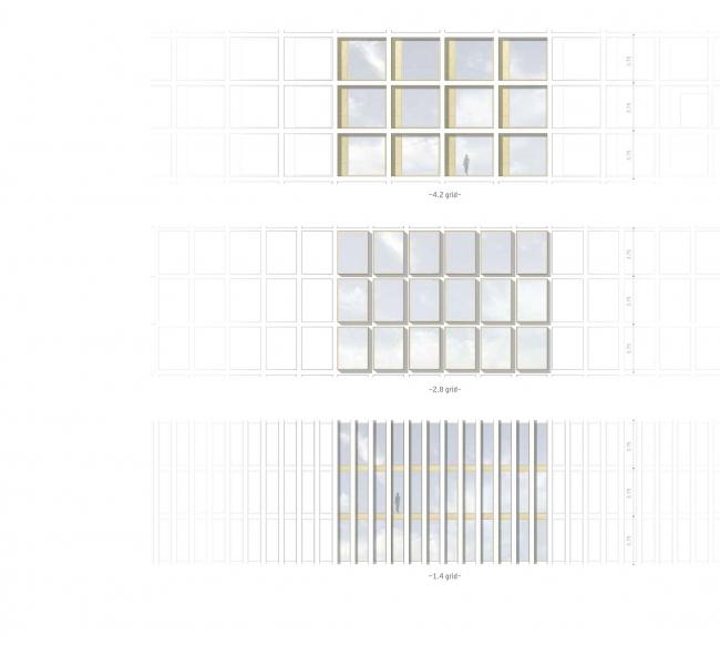 Комплексная общественно-жилая застройка на Васильевском острове. Концепция фасадов нежилых зданий. Проект, 2015 © KCAP Architects & Partners + ORANGE Architects