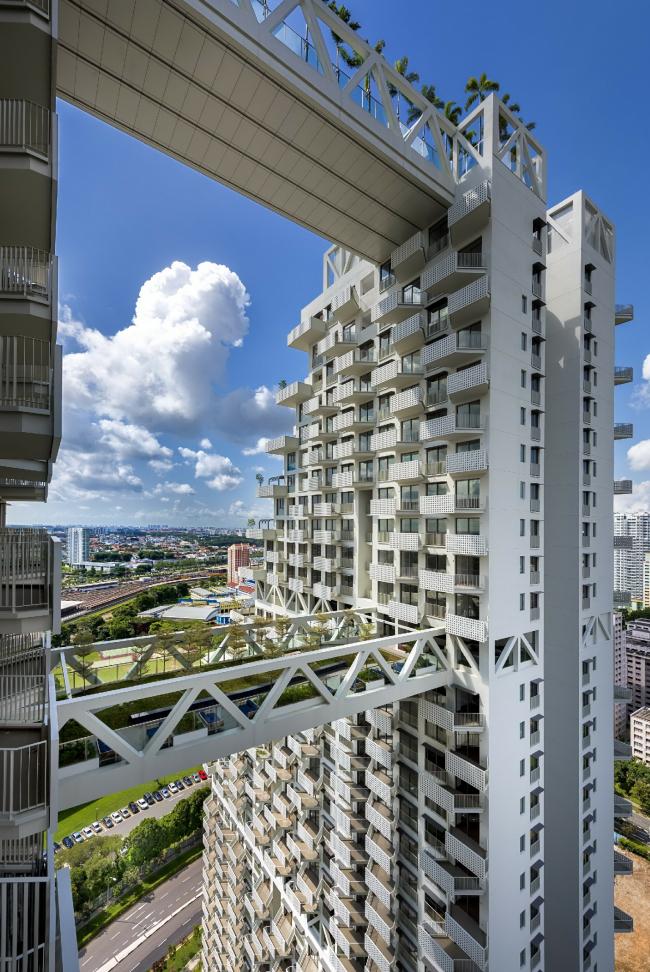 Жилой комплекс Sky Habitat. Фото: Edward Hendricks. Предоставлено Safdie Architects